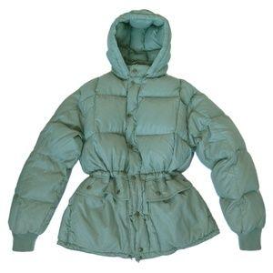 Eddie Bauer Light Green Goose Down Puffer Jacket